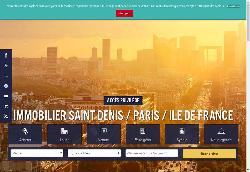 Capture d'écran du site de Syndic Administ Biens Immobiliers