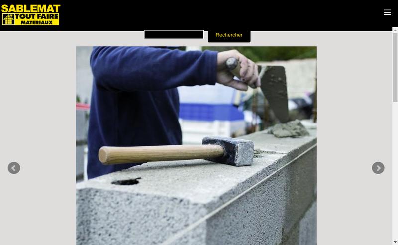 Capture d'écran du site de SA Sablemat
