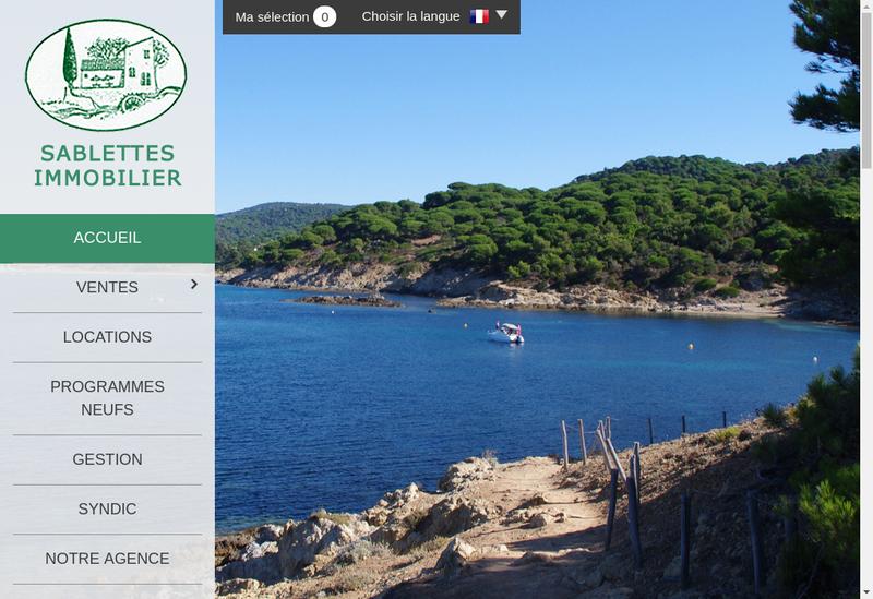 Capture d'écran du site de Sablettes Immobilier