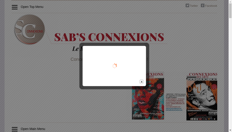 Capture d'écran du site de Sab'S Connexions