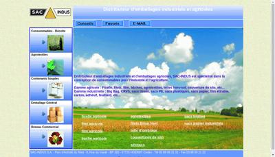 Capture d'écran du site de Sac Indus