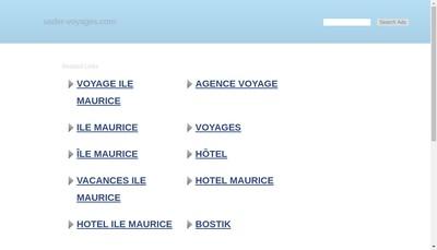 Site internet de Sader Voyages