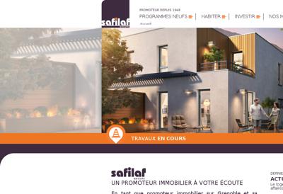 Capture d'écran du site de Safilaf SA