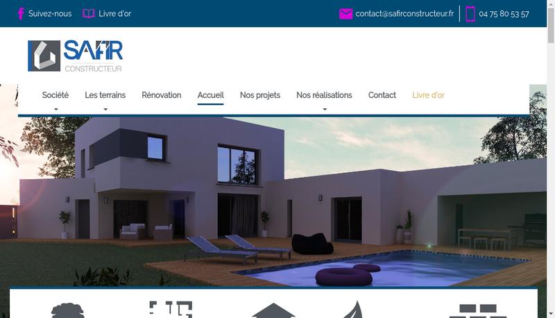 Capture d'écran du site de Safir Constructeur