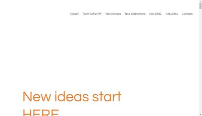Capture d'écran du site de Safran Rp