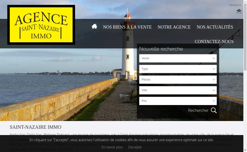 Capture d'écran du site de Saint Nazaire Immo