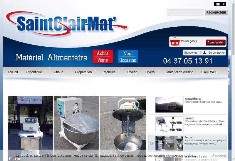 Capture d'écran du site de Saint Clair Mat