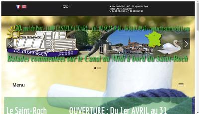 Site internet de Bateau Saint Roch - Restaurant la Cybelle Pizzeria du P