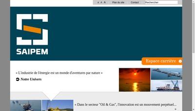 Site internet de Saipem SA