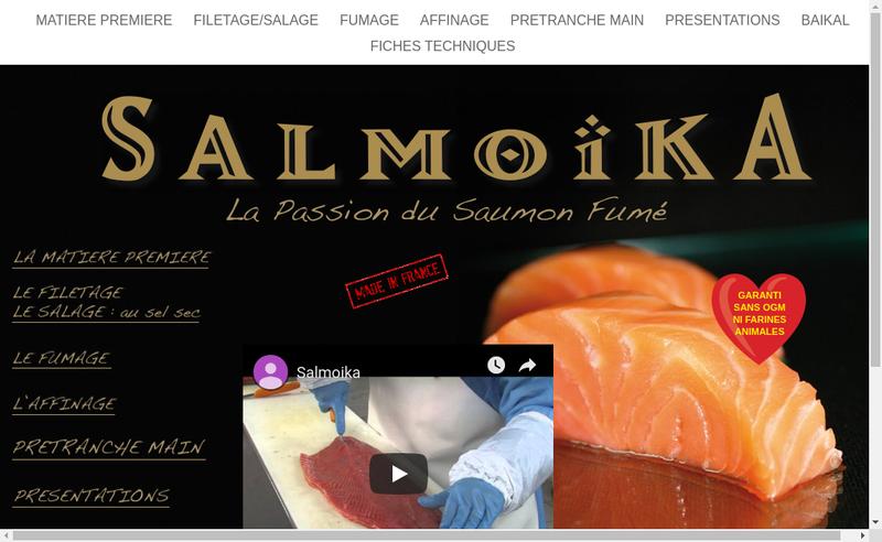 Capture d'écran du site de Salmoika