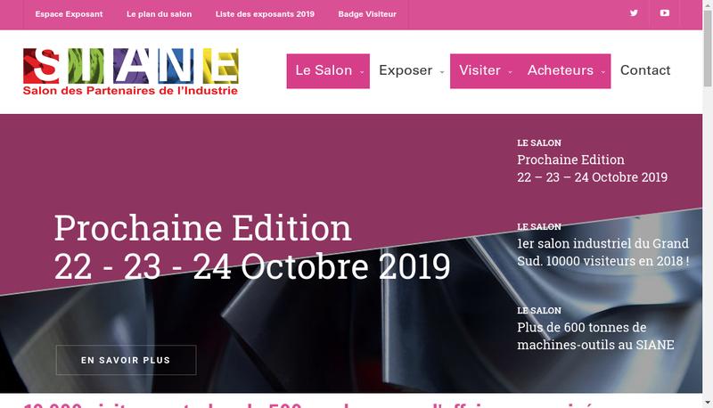 Capture d'écran du site de Jongen France Sarl