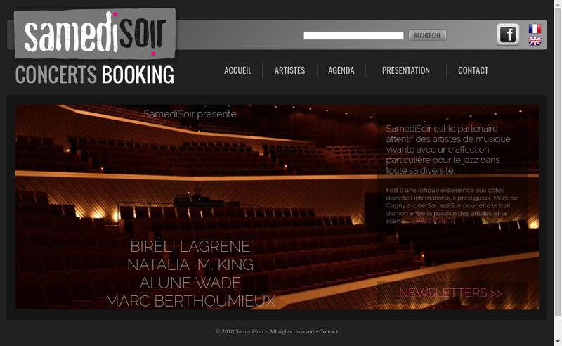 Capture d'écran du site de Samedisoir