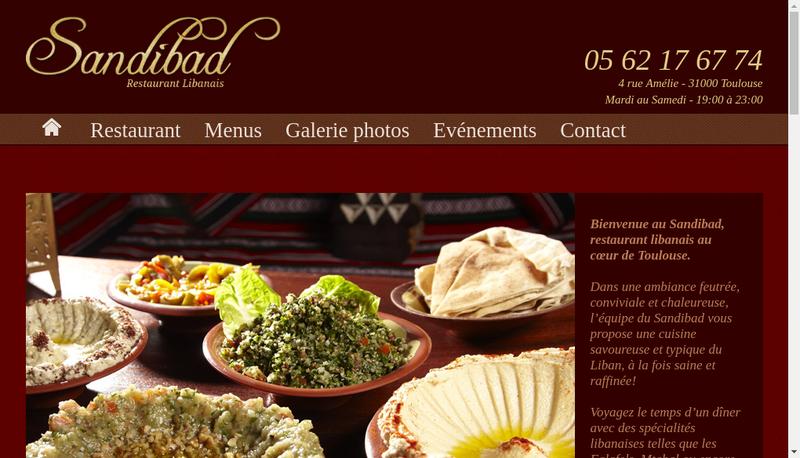 Capture d'écran du site de Sandibad