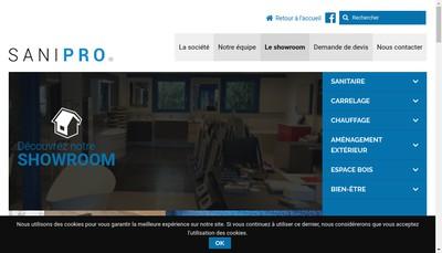 Site internet de Sani-Pro WO