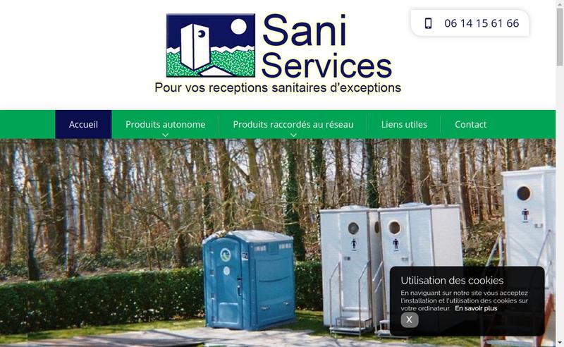 Capture d'écran du site de A Sani Services