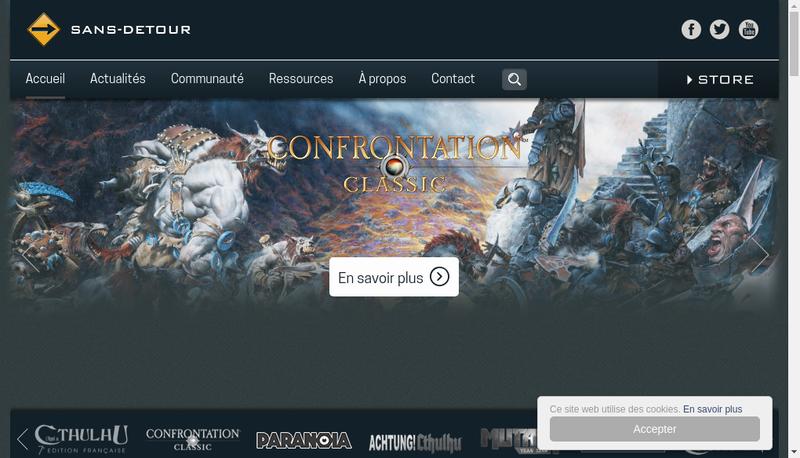 Capture d'écran du site de Sans Detour