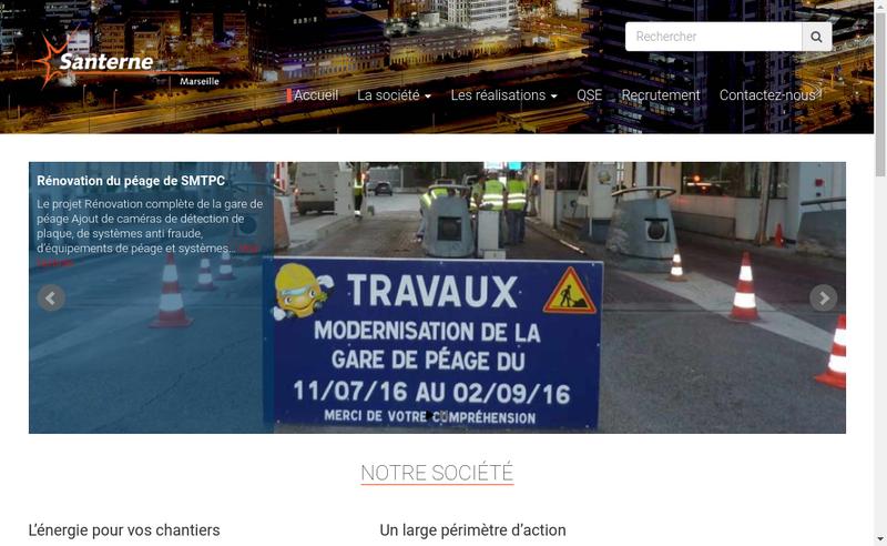 Capture d'écran du site de Santerne Marseille