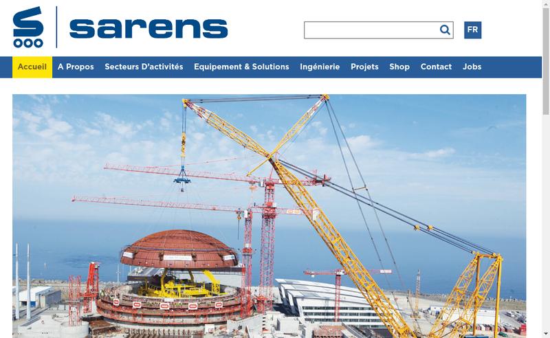 Capture d'écran du site de Sarens France