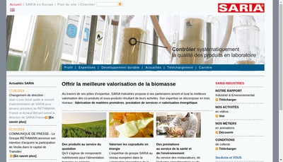 Site internet de Saria
