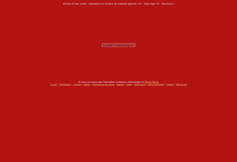 Capture d'écran du site de SARL Aguille