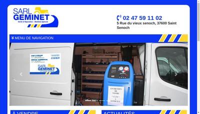 Site internet de SARL Geminet