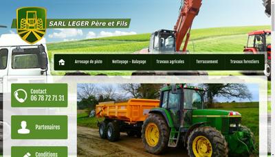 Capture d'écran du site de Leger Pere et Fils