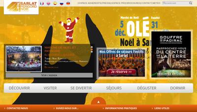 Capture d'écran du site de Office Tourisme Sarlat Perigord Noir