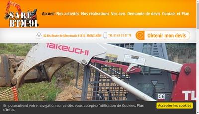 Site internet de SARL BTM 91