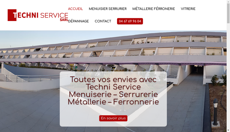 Capture d'écran du site de Techni Service