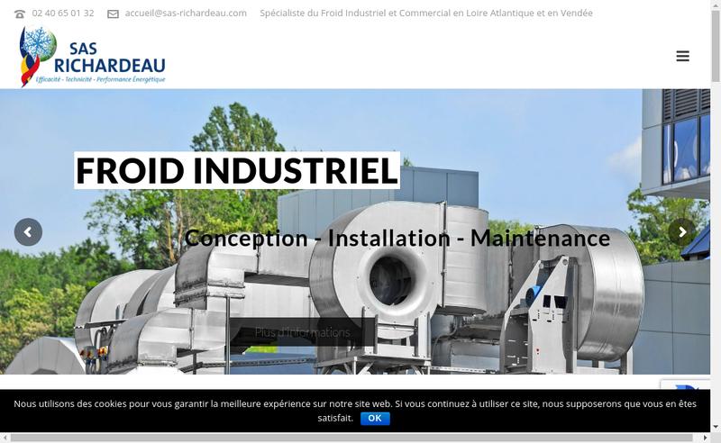 Capture d'écran du site de SAS Richardeau