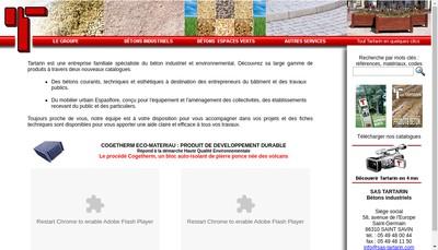 Site internet de SAS Tartarin