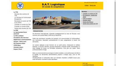 Capture d'écran du site de Societe d'Affretement et de Transit