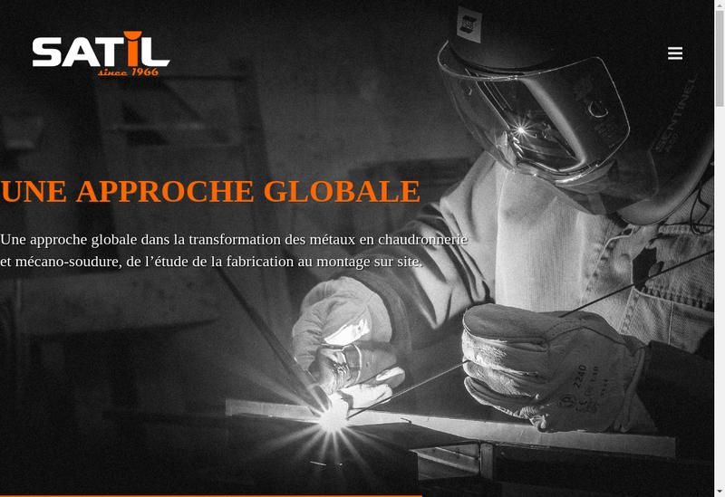 Capture d'écran du site de Satil Concept