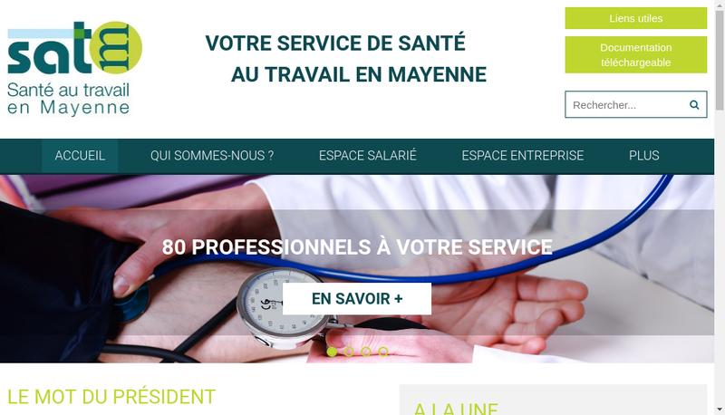Capture d'écran du site de Sante au Travail en Mayenne