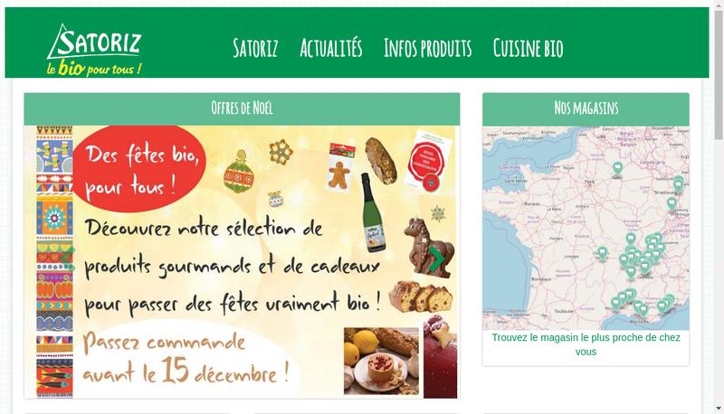 Capture d'écran du site de Satoriz Annecy