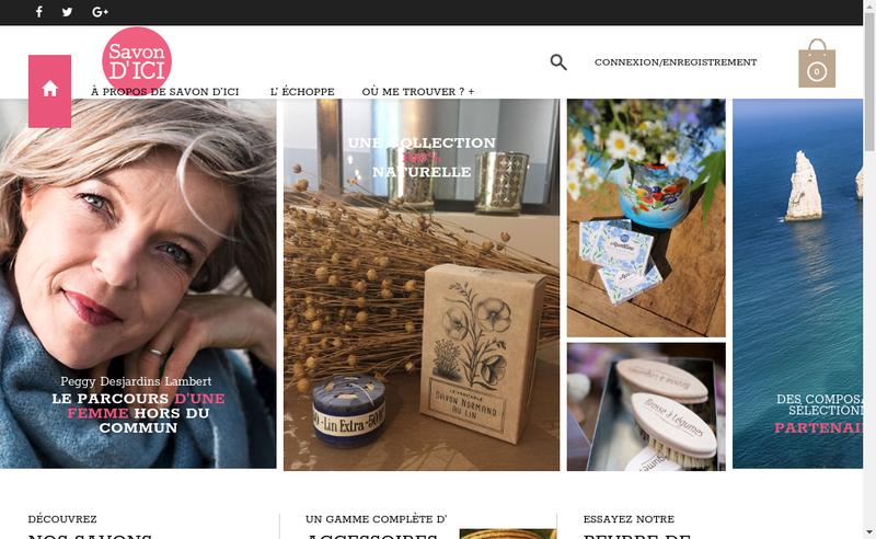 Capture d'écran du site de Savon d'Ici