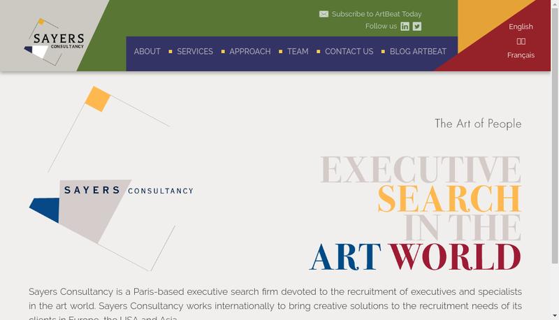 Capture d'écran du site de Sayers Consultancy