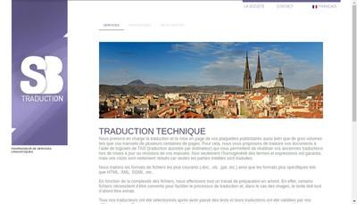 Site internet de SARL Sb Traduction