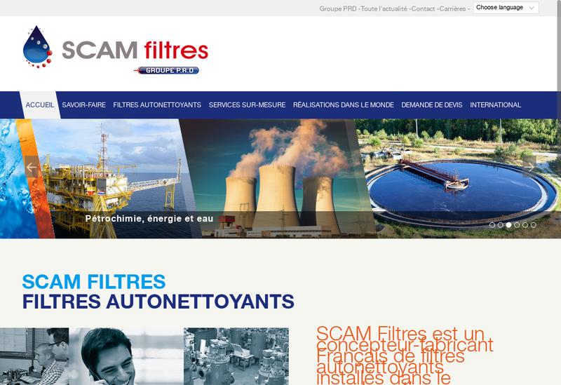 Capture d'écran du site de Scam Filtres