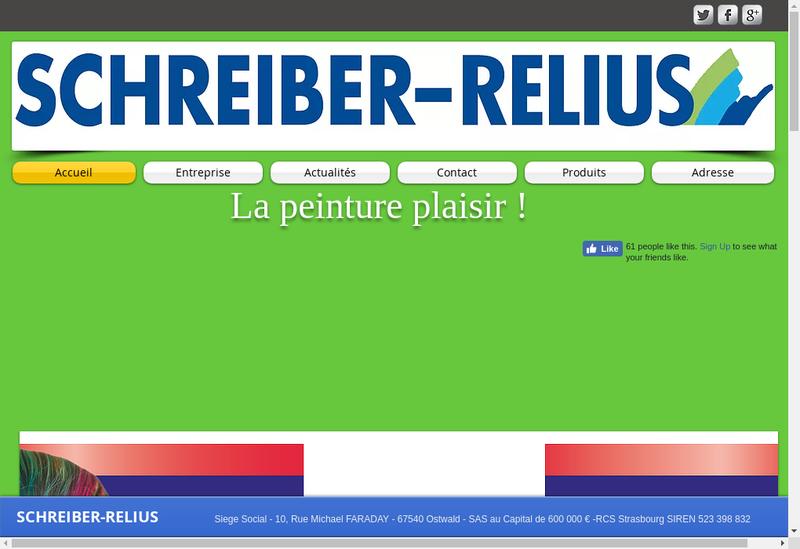 Capture d'écran du site de Schreiber Relius