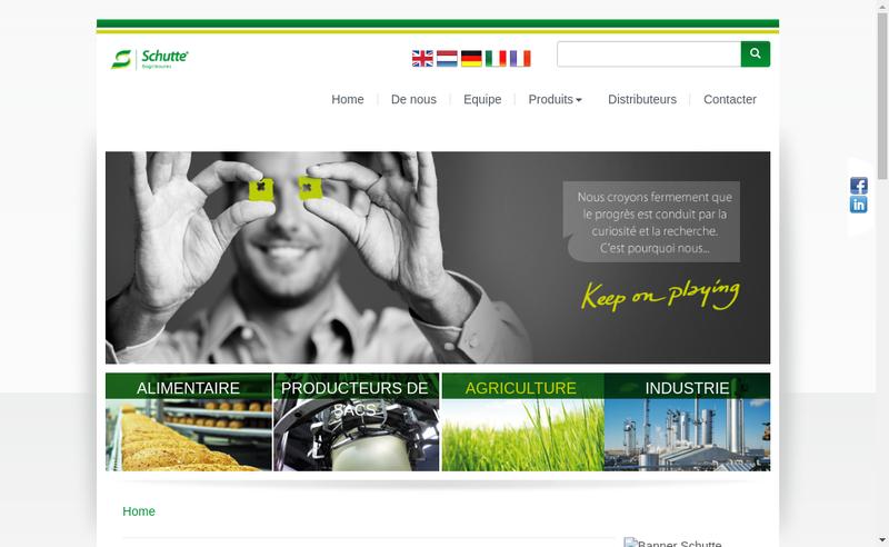 Site internet de Schutte Bagclosures SARL