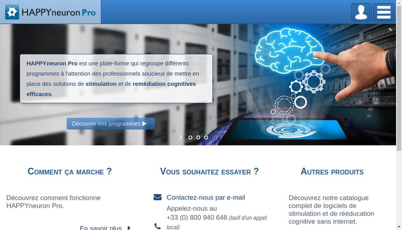Capture d'écran du site de Scientific Brain Training