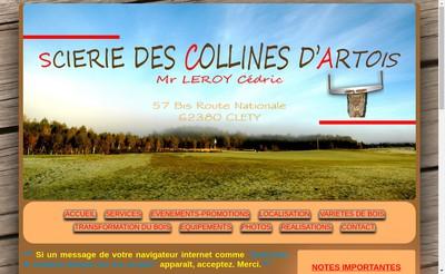 Site internet de Scierie des Collines d'Artois