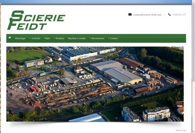 Site internet de Scierie Feidt SA