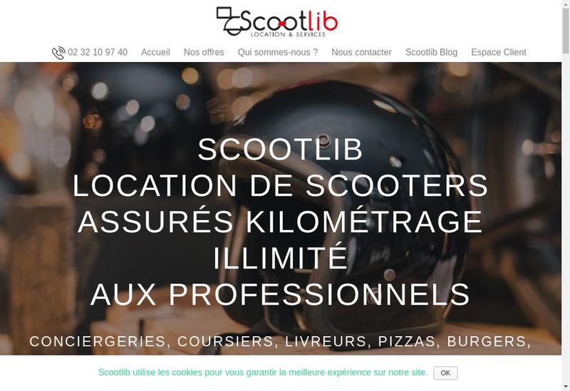 Capture d'écran du site de Scootlib France