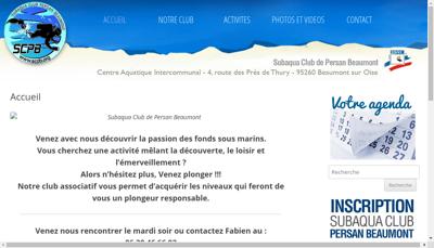 Capture d'écran du site de Sibest