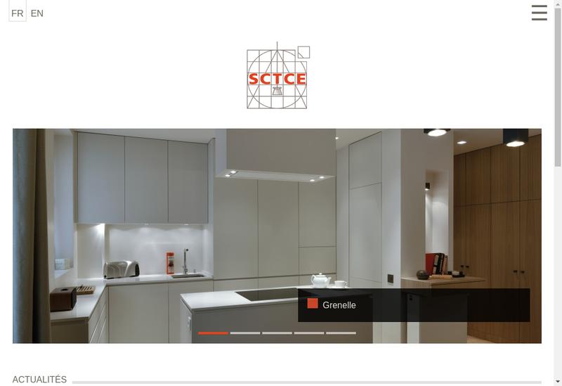 Capture d'écran du site de Sctce