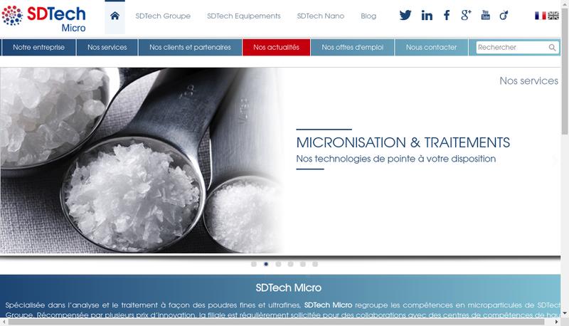 Capture d'écran du site de Groupe Sdtech