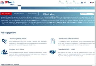 Site internet de Groupe Sdtech
