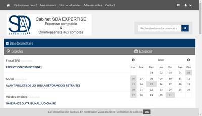 Site internet de Sda Expertise